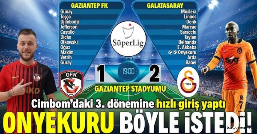 Gaziantep FK:1 – Galatasaray:2 Maç Sonucu Detayları Ne Oldu!