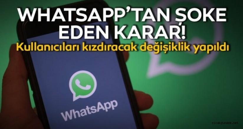 Whatsapp'ten Kullanıcılarını Kızdıran Karar